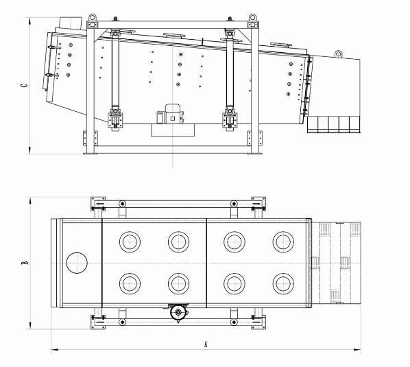 Gyratory Vibrating Screen Drawing