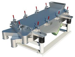 Industrial Rectangular Vibrating Screen   Vibratory Screen Separator